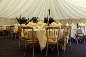 Wedding day gazebo restaurant celebration
