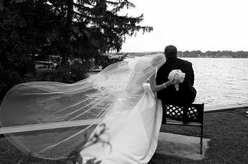 "I missed out on the dramatic ""veil in the wind"" photos. :("