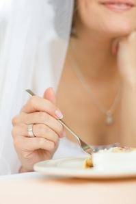 Bride eating