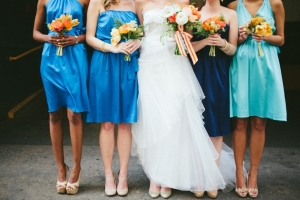 We rocked the mismatched bridesmaid dresses look!