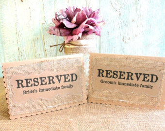 "Don't want to assign each and every guest to a table by name? Do it by group with a table for ""Groom's Family"", ""Bride's School Friends"" and so on."