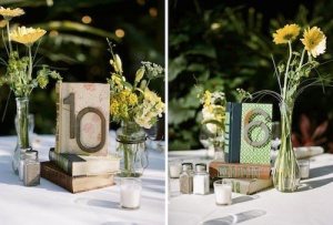 Display table names clearly on each table, so guests can easily see their space from the other side of the room.