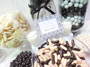 Wedding Candy buffet-Black&White shot 4
