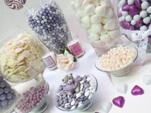 Wedding Candy buffet-Purple & White shot 13