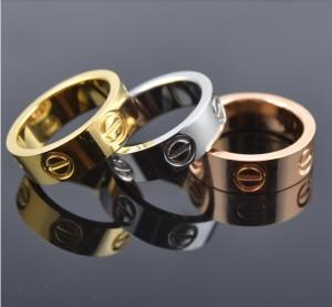 Famous-brand-6mm-screw-lovers-font-b-gold-b-font-font-b-rings-b-font-font